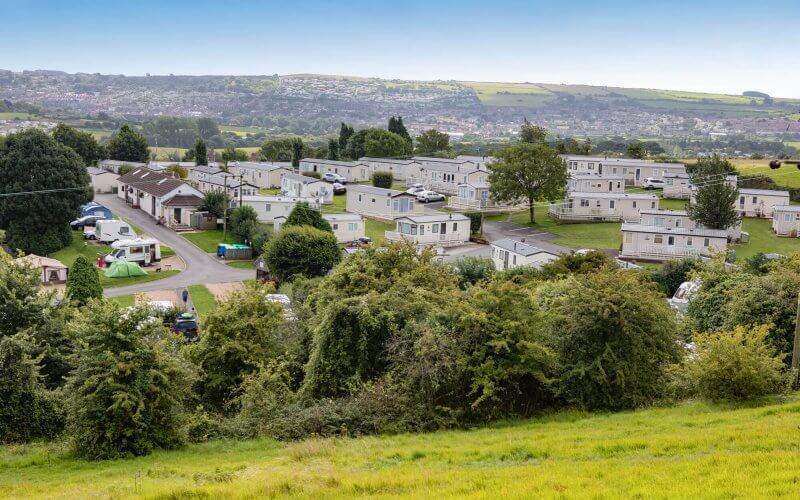 overloooking ulwell holiday park campsite and holiday homes in swanage