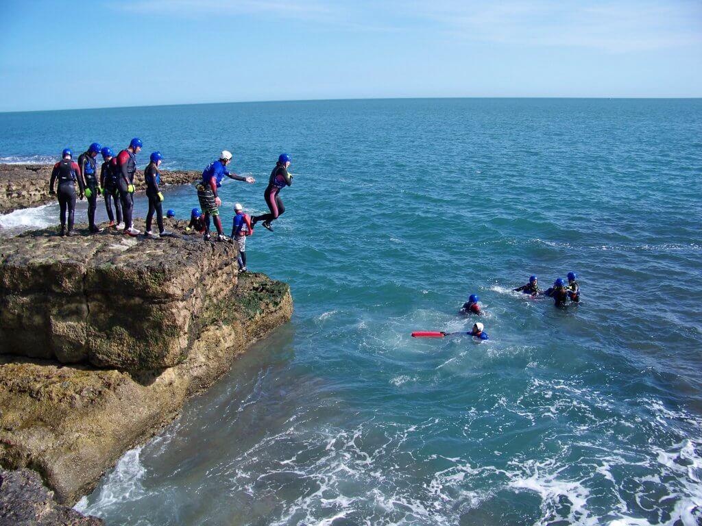 Coasteering in Dorset with Cumulus Outdoors