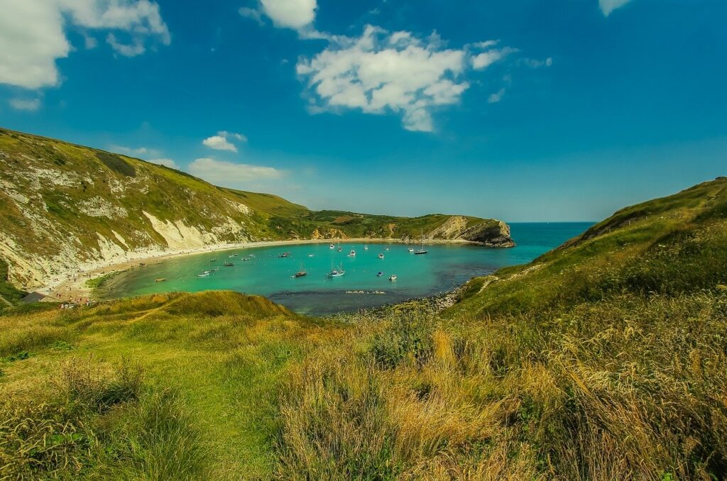 lulworth cove in summer
