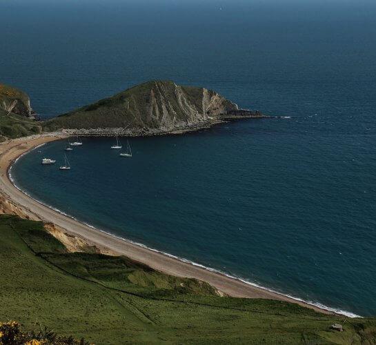 view overlooking worbarrow bay