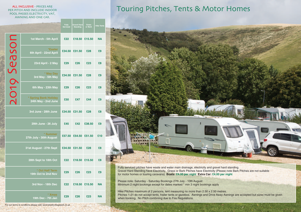 touring pitches 2019