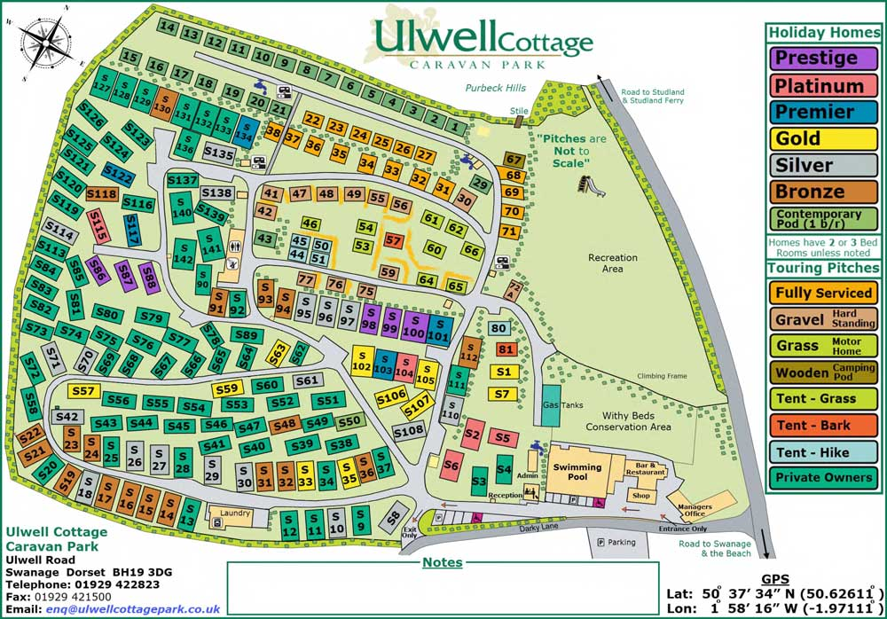 ulwell caravan park map 2019
