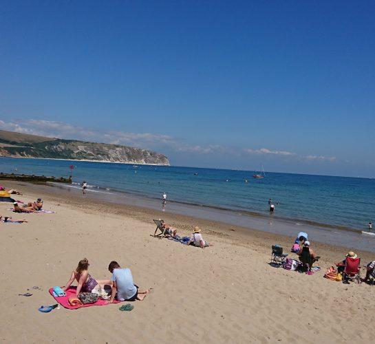 Swanage beach in summer