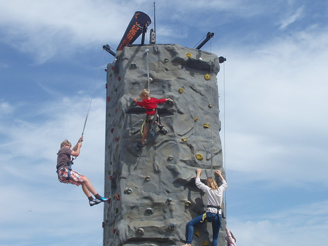 climbing wall swanage