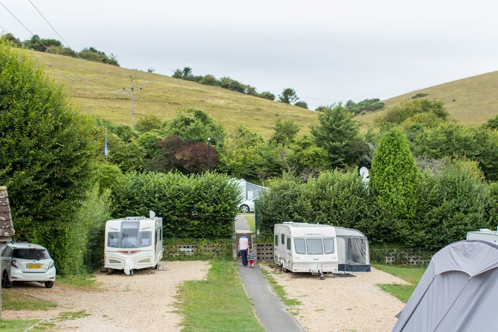 caravan pitches at ulwell holiday park in swanage