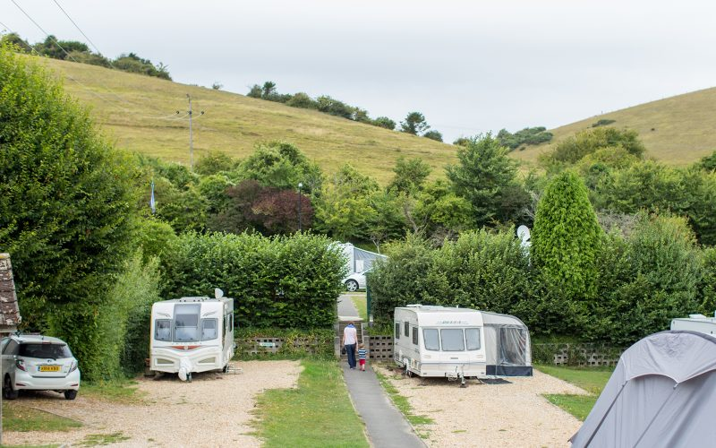 caravan pitches at ulwell holiday park