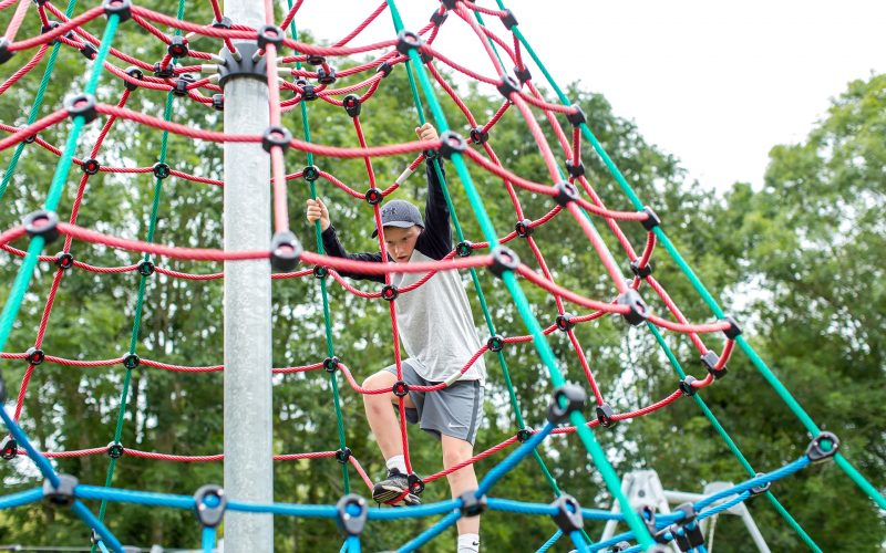 climbing frame in the children's play park