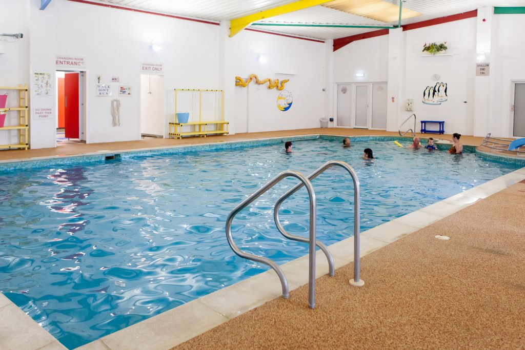 indoor swimming pool at Ulwell holiday park