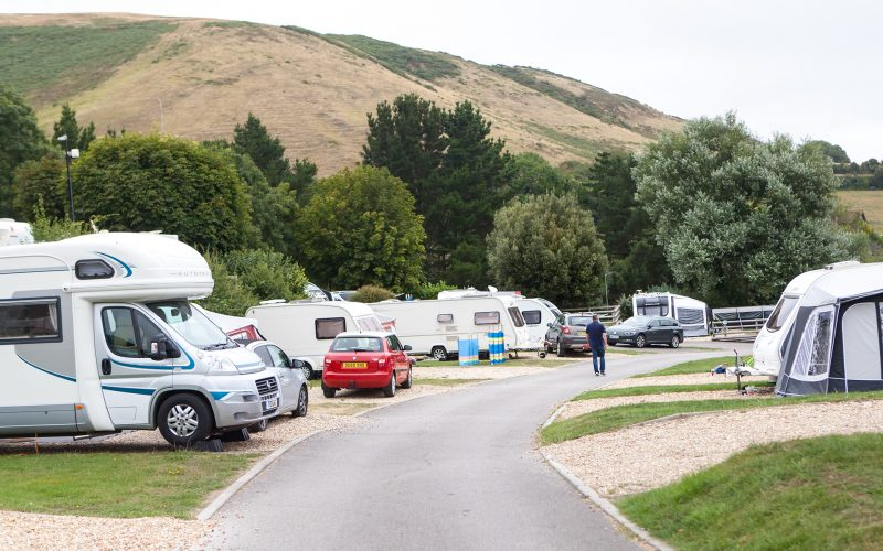 touring caravans and motorhomes at ulwell holiday park