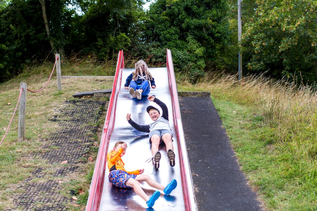 slide in the children' s play park