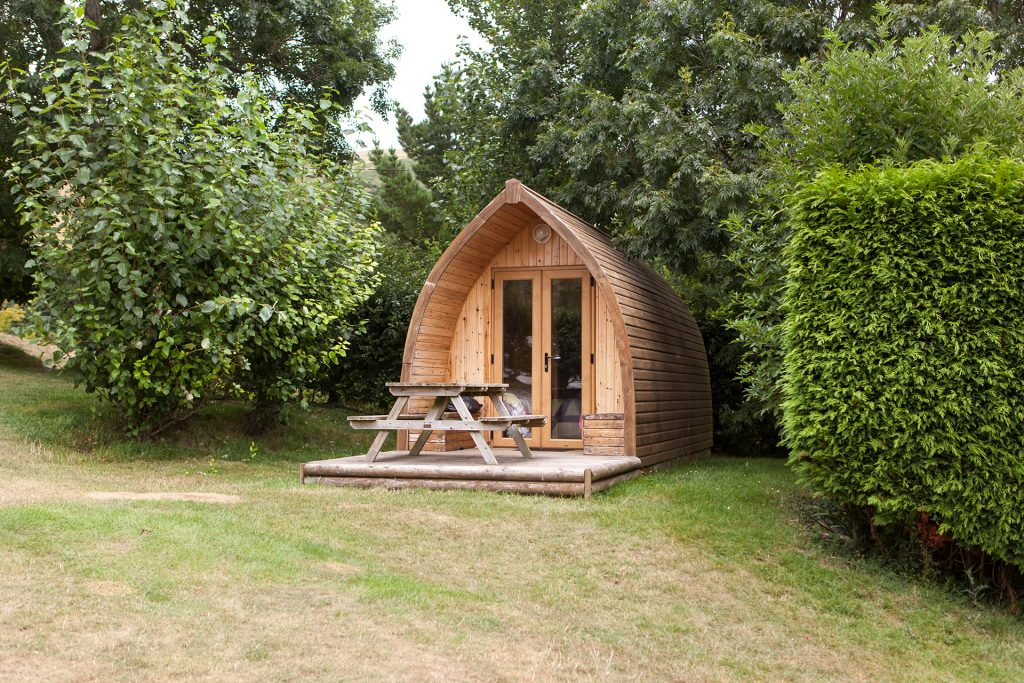 camping pod at ulwell holiday park