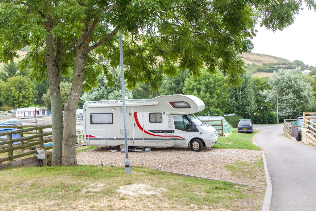 motorhome at ulwell holiday park