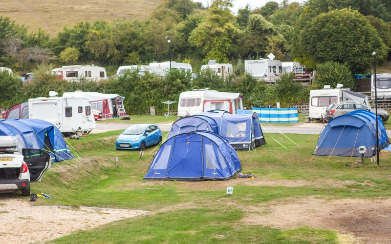 camping pitches at ulwell holiday park