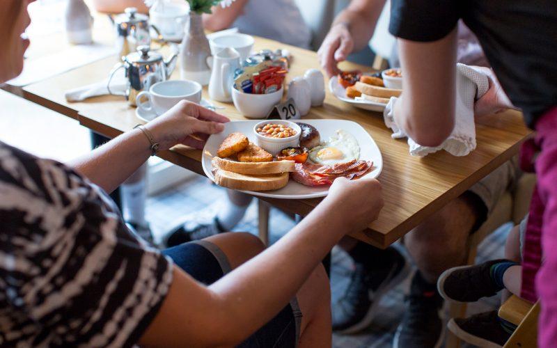 full english breakfast at the village inn
