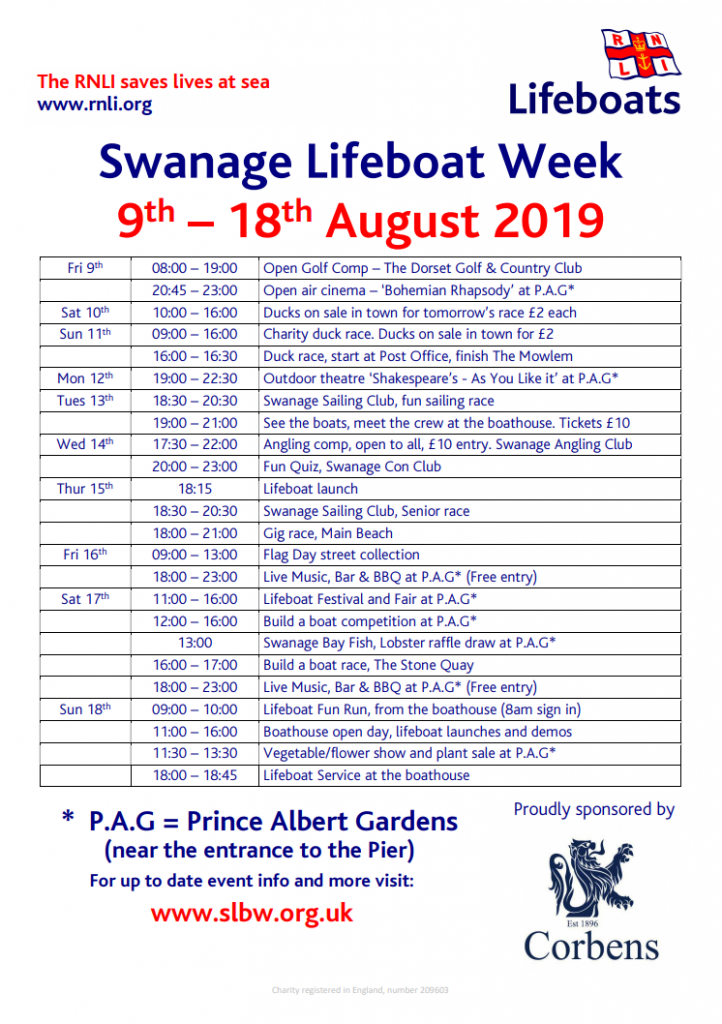 swanage lifeboat week itinerary