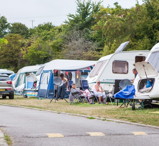 caravans at ulwell in swanage