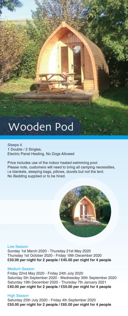 camping pod prices