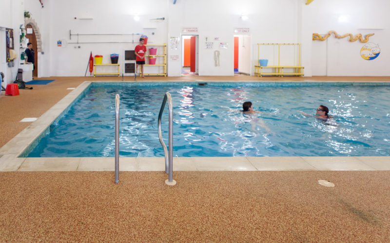 swimming pool at ulwell caravan park