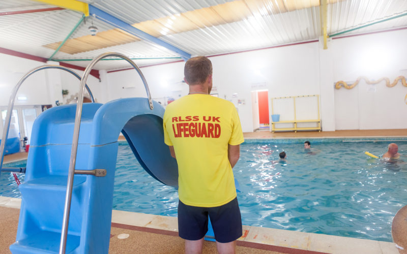 lifeguard at ulwell holiday park pool