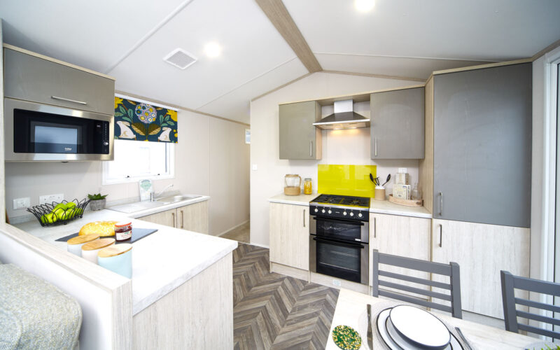 Atlas Amethyst caravan holiday home kitchen