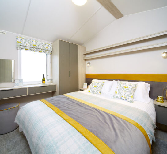 Atlas Amethyst caravan holiday home master bedroom