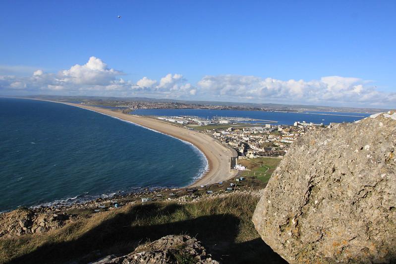 Tout quarry view portland harbour chesil beach