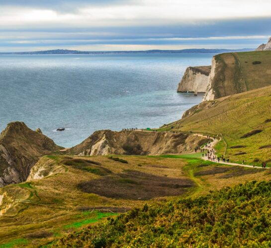 Jurassic coast natural landscape