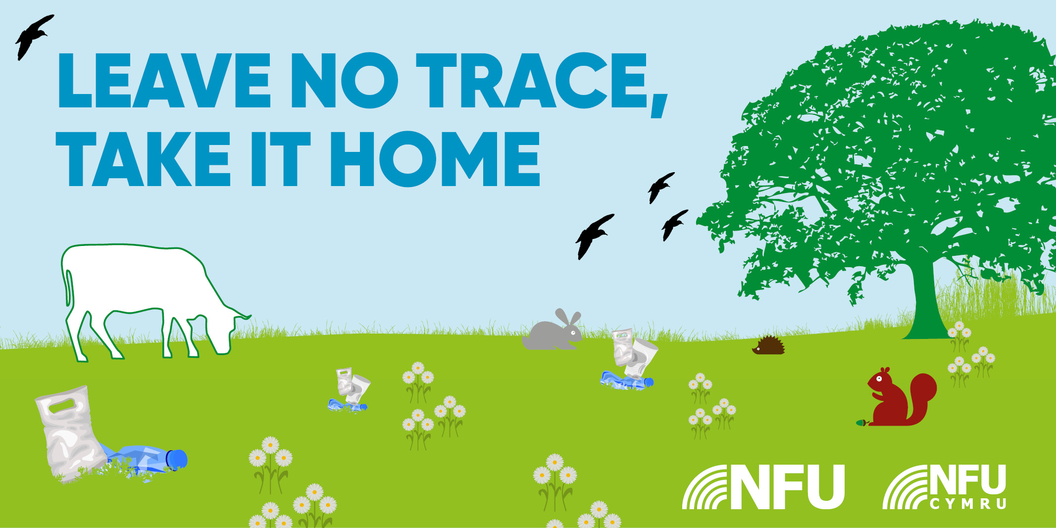 Leave no trace take your litter home