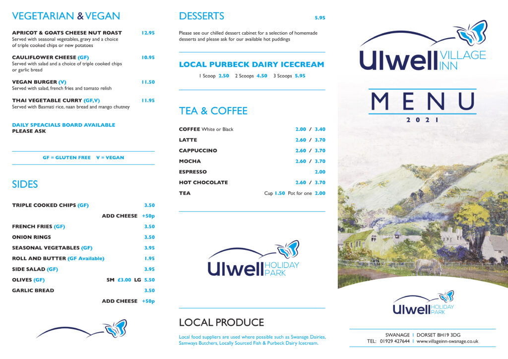 ulwell village inn menu