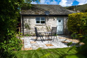 the studio garden and patio