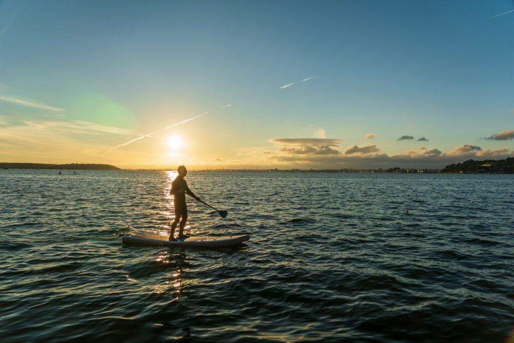 paddle boarding poole